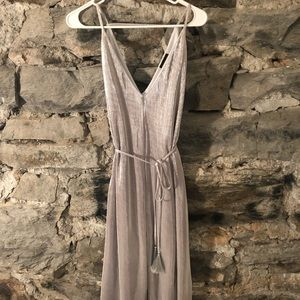 Silver Pleated Formal Dress!!